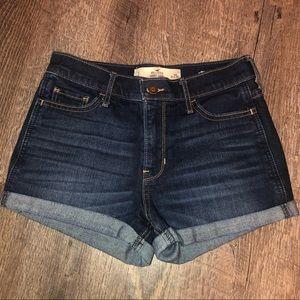 High-rise short shorts